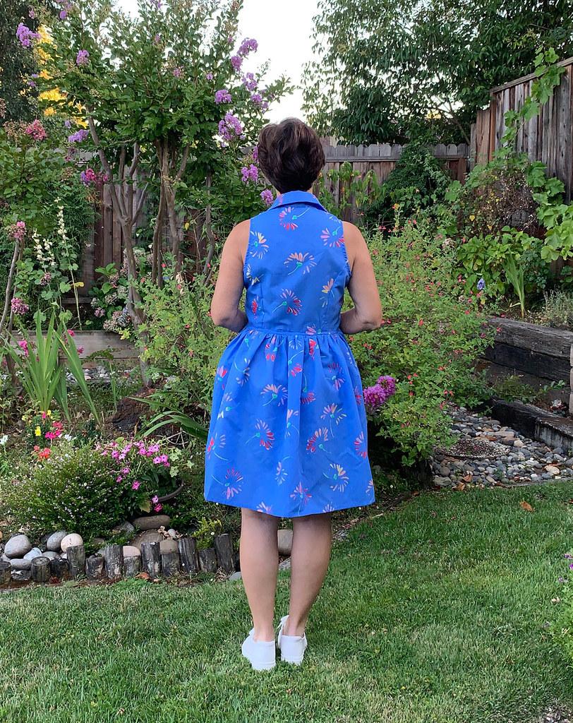 Patrones blue dress 2