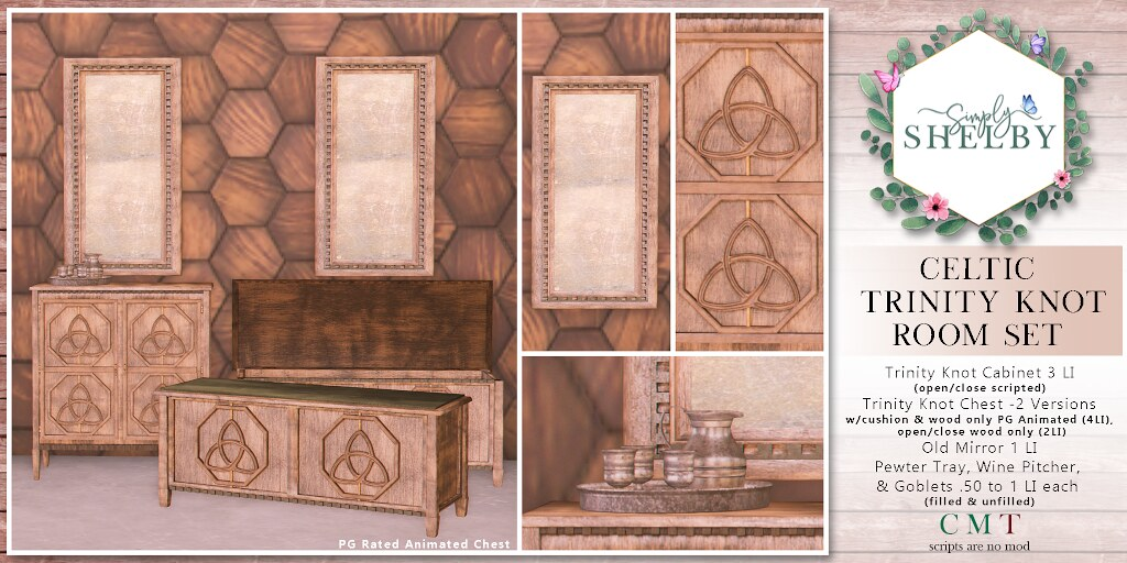 Simply Shelby Celtic Trinity Knot Room Set