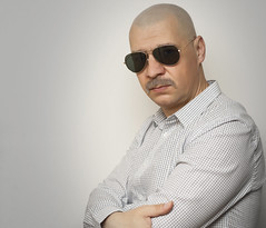 Man with sunglasses and mustaches