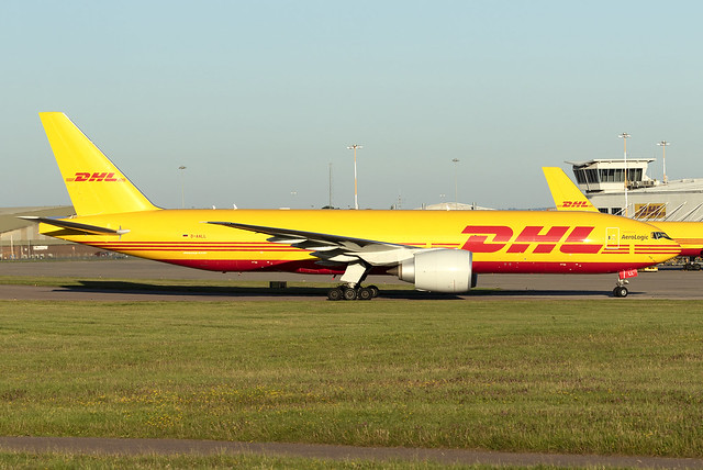 DHL (Aero Logic) 777-200F D-AALL at East Midlands EMA/EGNX