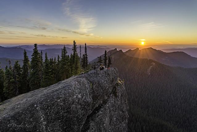 Sunset from Sawtooth Ridge