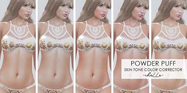 cheLLe - Powder Puff (Skin tone color corrector)