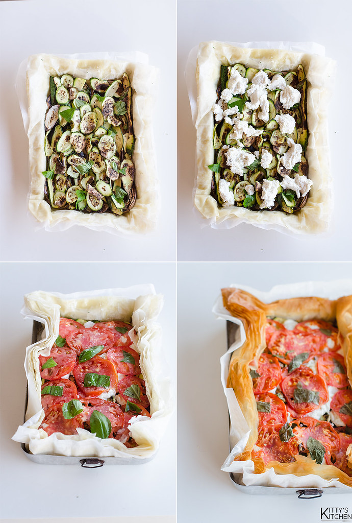torta di verdure grigliate e ricotta