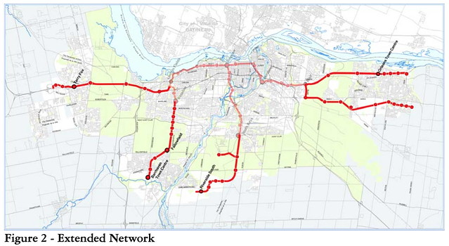 Delcan - Transit Technology Choice Report 2009 - Figure 2 Extended Network