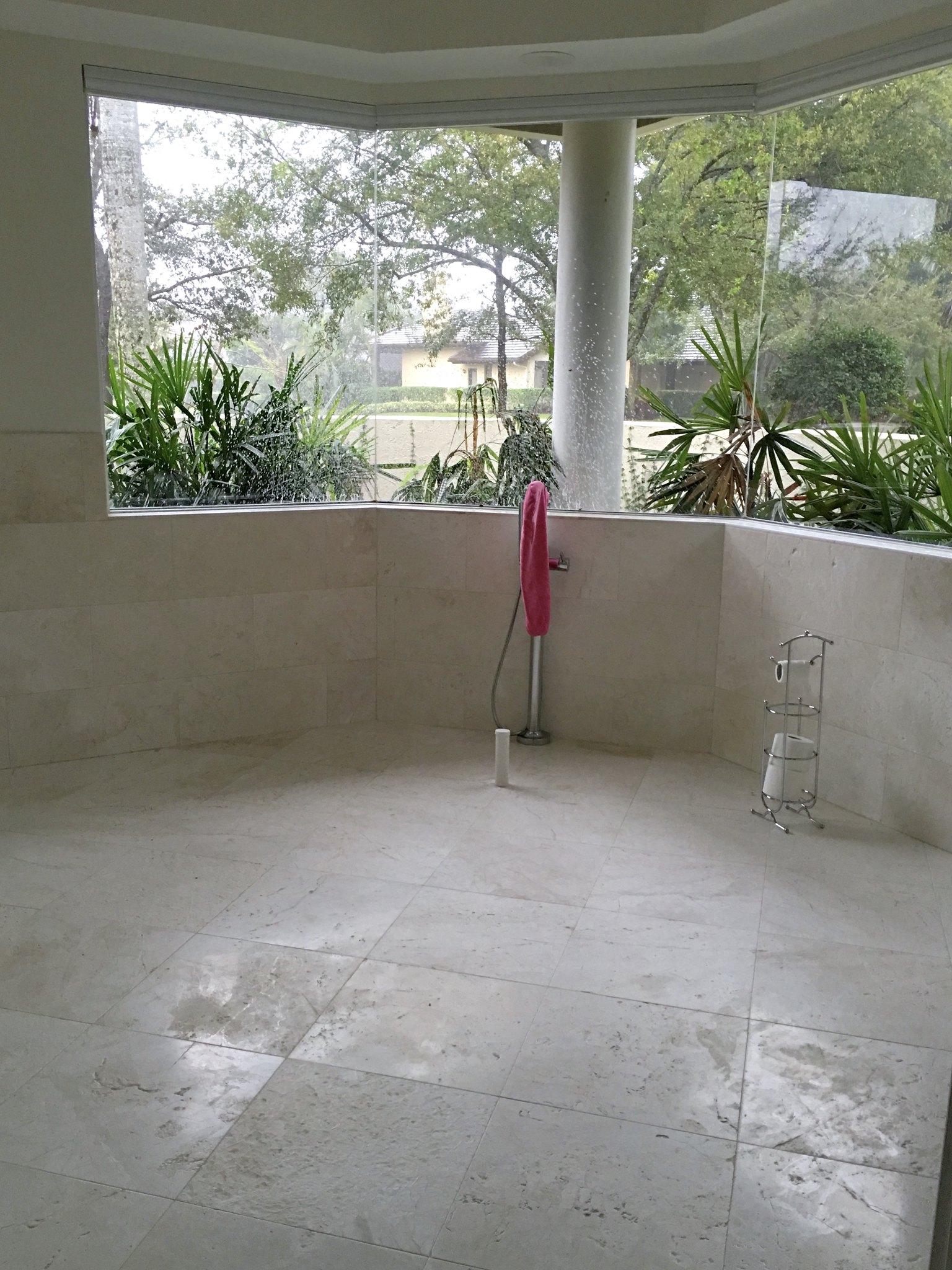 open floor bath