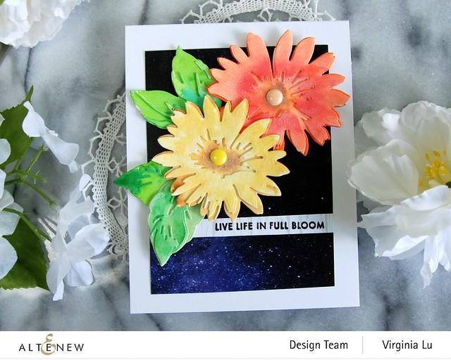 Altenew-Craft-a- Flower Daisy-AutumnFestival BrushMarkers-WarpSpeed Stencil-0808 2020 (4)