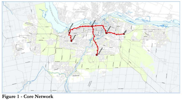 Delcan - Transit Technology Choice Report 2009 - Figure 1 Core Network