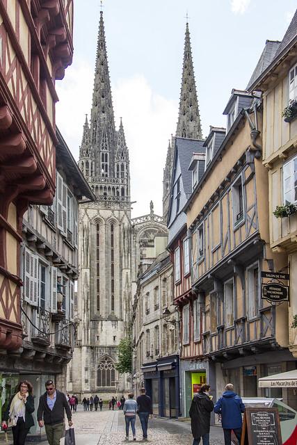 Quimper Cathedral, Quimper, Brittany, France