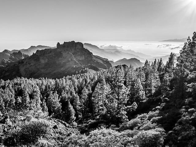 Cumbres al atardecer (isla de Gran Canaria)