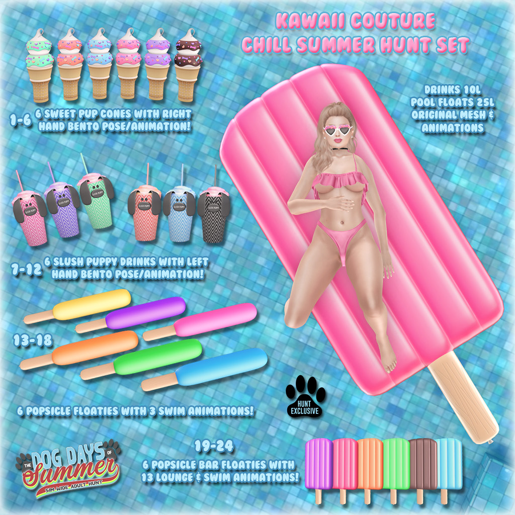 Kawaii Couture Chill Summer Hunt Set - DDOS ATCSL AD