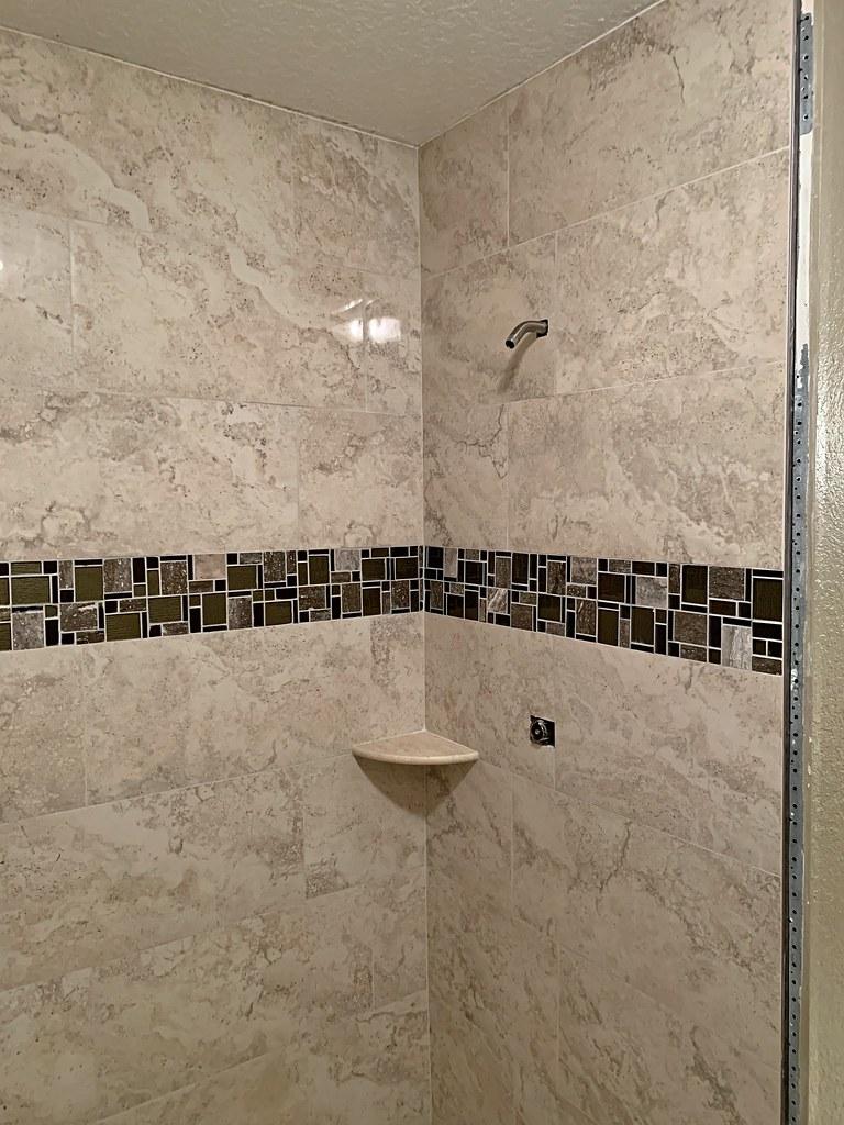 brown trim tile