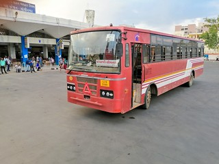 Ambaji to Somnath gsrtc bus | by tirthpatel1386