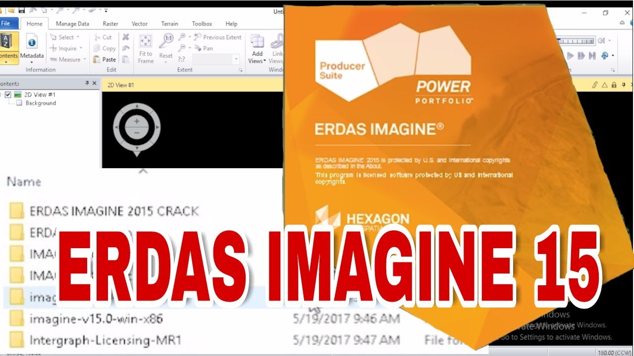 Working with Hexagon ERDAS IMAGINE- Foundation 2015 v15.0 full