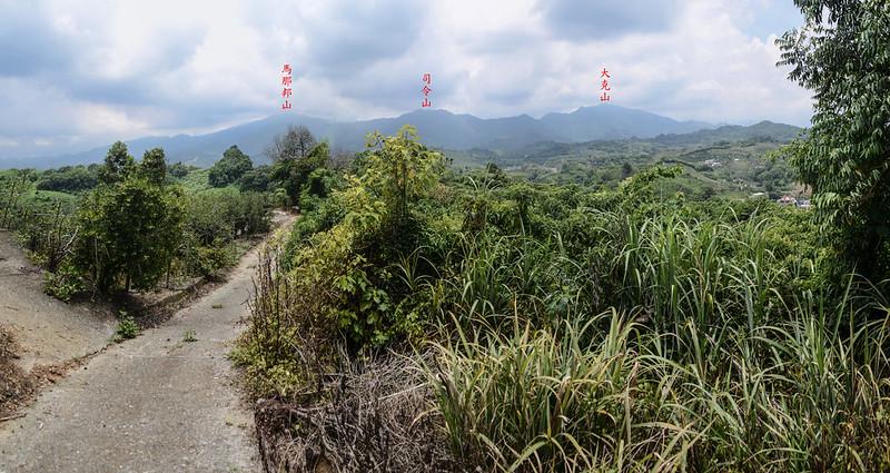 苗圃中心山東峰(雙連山)東邊展望馬克連稜