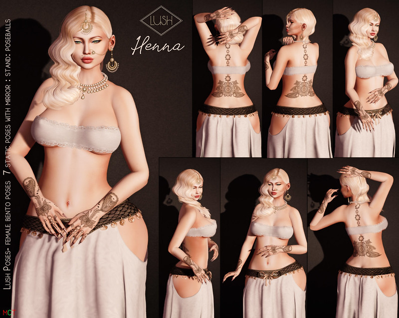 Lush Poses Henna