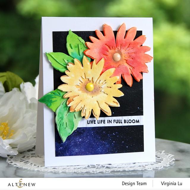 Altenew-Craft-a- Flower Daisy-AutumnFestival BrushMarkers-WarpSpeed Stencil-0808 2020