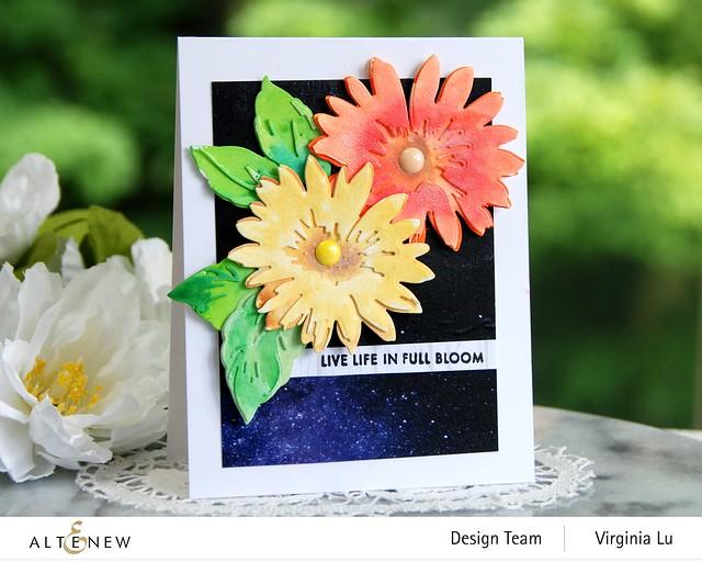 Altenew-Craft-a- Flower Daisy-AutumnFestival BrushMarkers-WarpSpeed Stencil-0808 2020 (3)