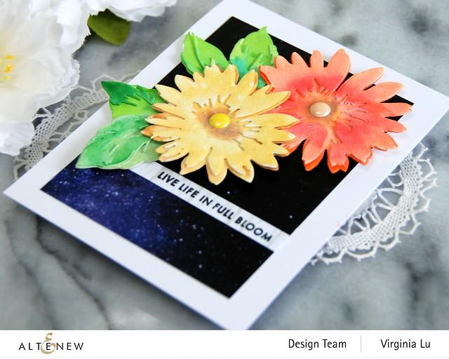Altenew-Craft-a- Flower Daisy-AutumnFestival BrushMarkers-WarpSpeed Stencil-0808 2020 (2)
