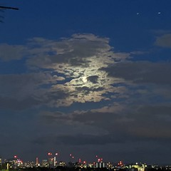 Moon over north London