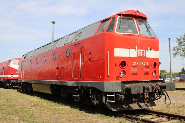 TEV: 219 084-1 im Eisenbahnmuseum Weimar