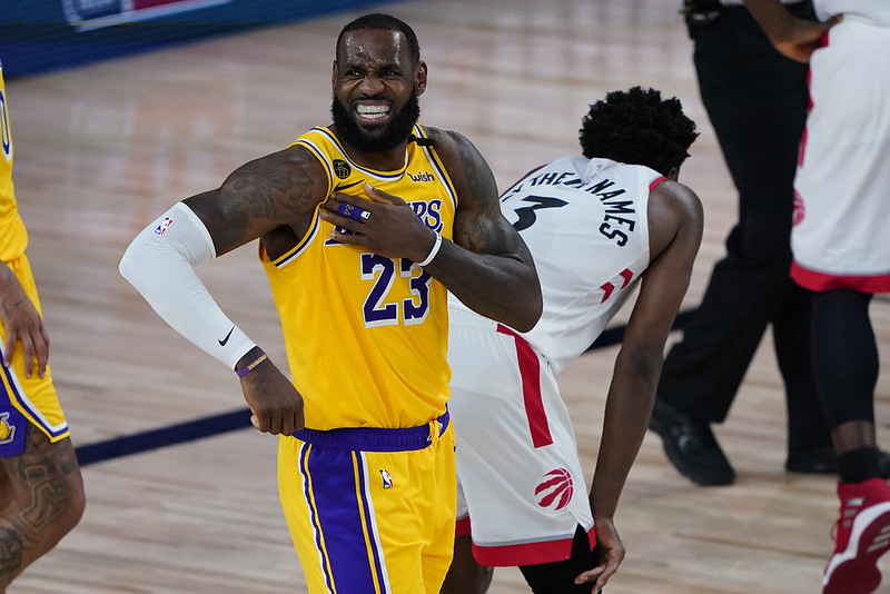 LeBron James攻下20分。(達志影像)