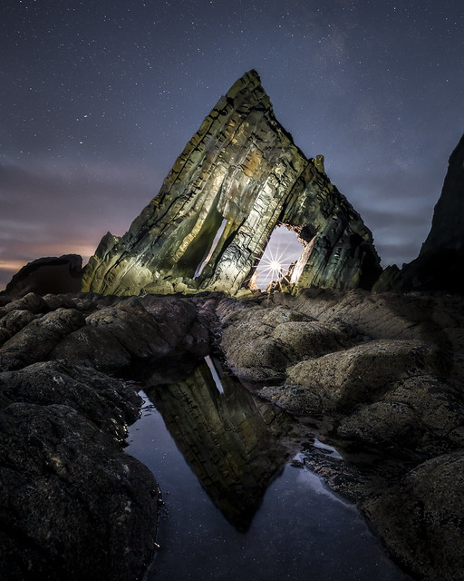 Blackchurch Rock at night!