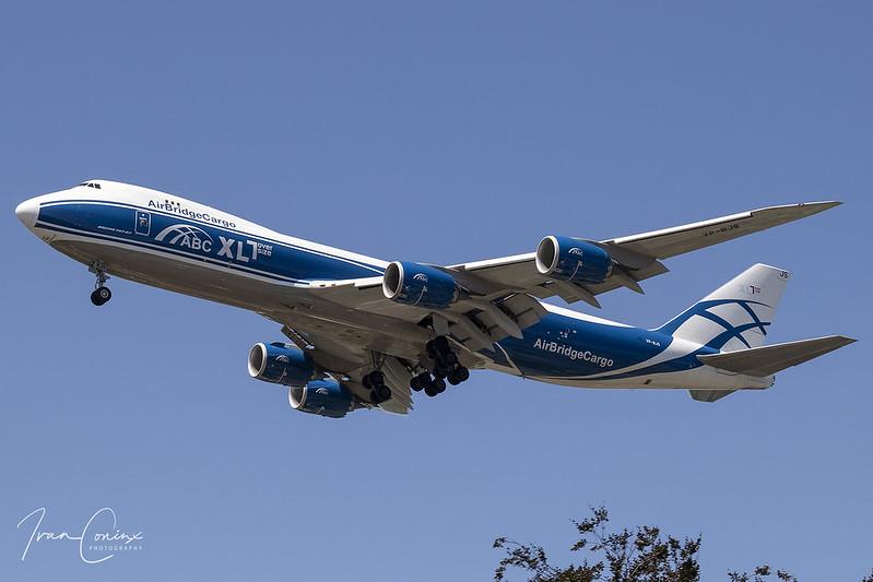 Boeing 747-8F – AirBridgeCargo Airlines – VP-BJS – Brussels Airport (BRU EBBR) – 2020 07 31 – Landing RWY 19 – 01 – Copyright © 2020 Ivan Coninx