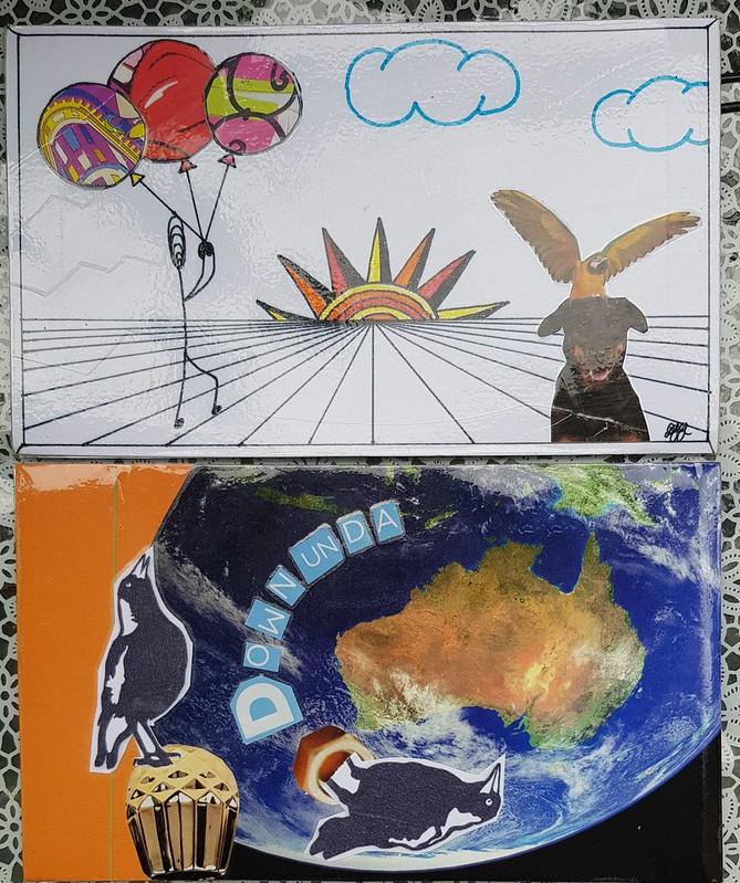 Postcards by Sharon P & her friend Debra G Australia