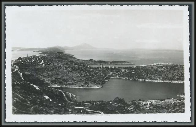7900 R Mali Lošinj. Foto Mioni. Lussinpiccolo. Razglednica. Postcard. 17.VIII.1936. (Pogled s jugoistoka iznad plaža Valdarke)