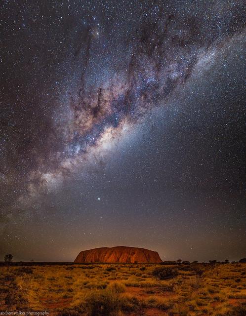 Milky Way over Uluru