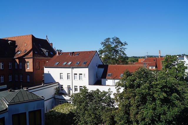 2020-07-21 157; Deutschlandtour; Fulda, Blick aus dem Hotelfenster