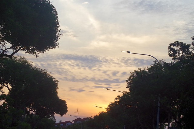 Sunset at Saraca Road. Seletar Hills Singapore, 2 August 2020.  Pentax K-500/Pentax F 70-200mm f4-5.6.