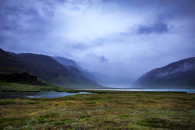 One foggy day, Kaldbaksvík, Westfjords, Iceland