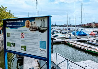 Notice board at Preston Docks | by Tony Worrall
