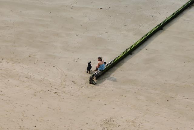 Villerville, marée basse