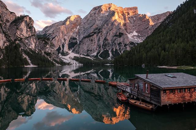 Summerevening at Lago di Braies