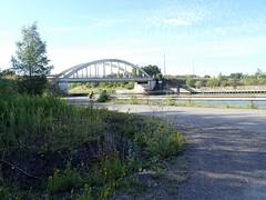 Pont de la D16 sur le Canal de la Deûle à Évin-Malmaison, Pas-de-Calais