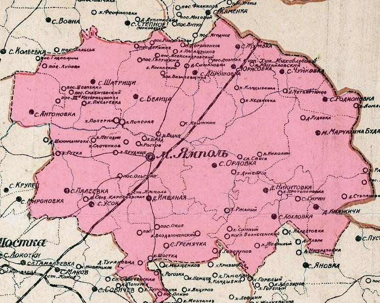 карта ямпільський
