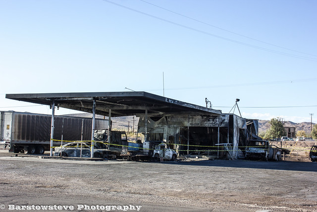 Ludlow Gas Station Fire Aftermath