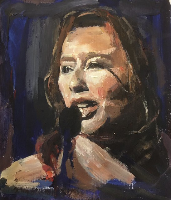 Another performer painting acrylic 10 by 12 Inches