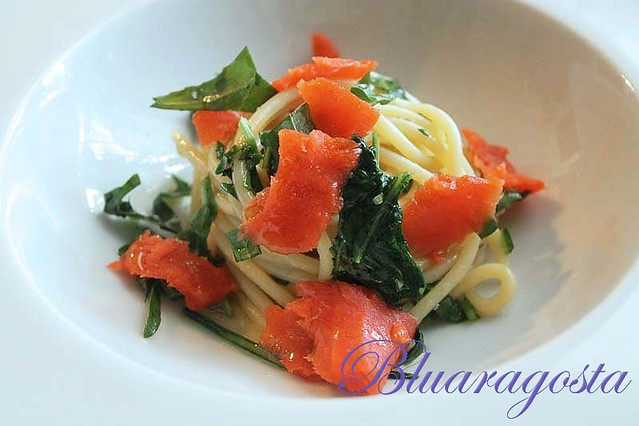 06-spaghetti rucola e salmone marinato