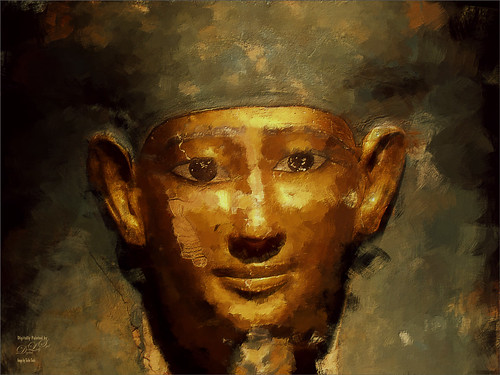Image of a painted Egyptian Mask
