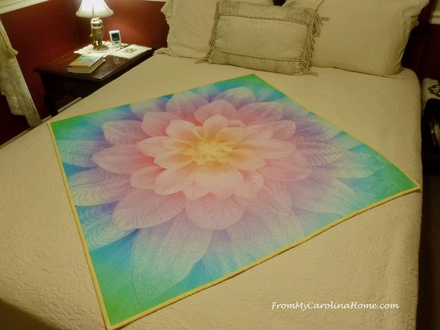 Quilting the Dahlia Panel at FromMyCarolinaHome.com