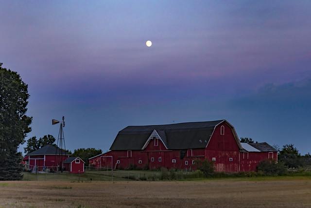 Evening at the barnyard.