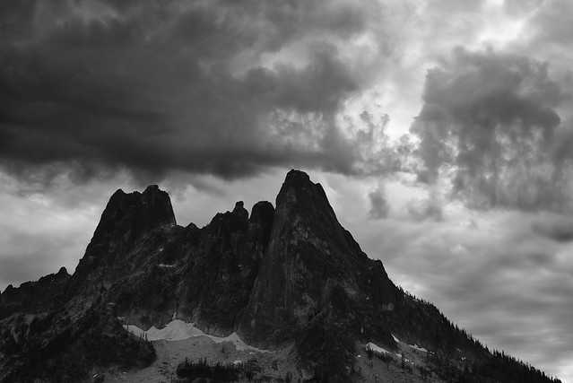 Liberty Bell under a wild sky in the North Cascades