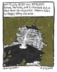 Journal Comic, 12 July 2020. Hidden Falls
