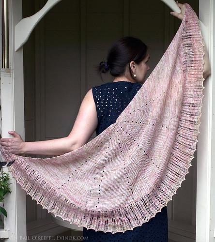 lace shawl modelled
