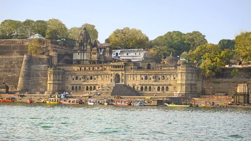 Fort Ahilya in Maheshwar