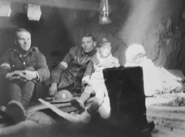 Reginald & Sylvia Harding Klimanek in a dug out during 1932 Japanese attack of Shanghai