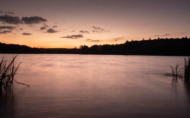 Virginia Water - Sundown (long exposure)